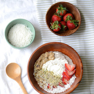 Strawberry Coconut Breakfast Bowl.