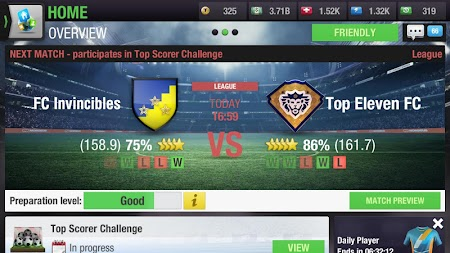 Top Eleven 2019 -  Be a Soccer Manager APK screenshot thumbnail 9