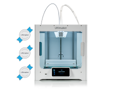 Ultimaker S3 3D Printer - 3 Year Warranty, 2 Spools ABS