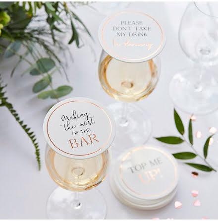 Drinkunderlägg - Botanical wedding