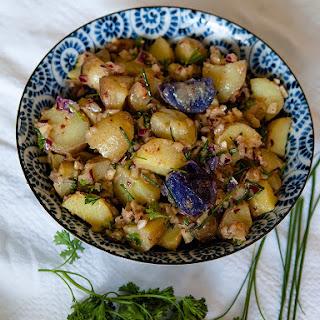Vegan Dijon Potato Salad.