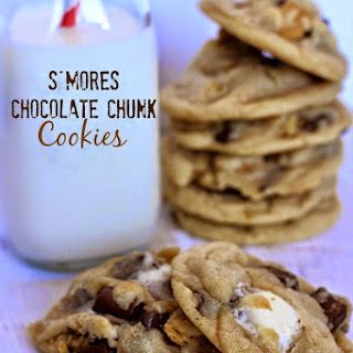 S'mores Chocolate Chunk Cookies.