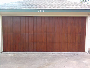Photo: San Jose Style. Faux Finished. 16 x 7 Wood Free Door by Cedar Park Overhead Doors