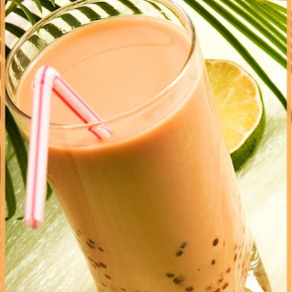 Tangy Tangerine Bubble Tea.