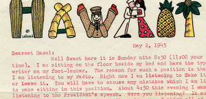 Excerpts of a letter from Walt to Hazel Dated May 2, 1943