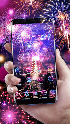 Lucky 3D New Year Firework Theme 1.1.4 screenshots 7