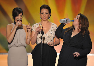Photo: LOS ANGELES, CA - JANUARY 29: (L-R) Actresses Kristen Wiig, Maya Rudolph and Melissa McCarthy speak onstage during The 18th Annual Screen Actors Guild Awards broadcast on TNT/TBS at The Shrine Auditorium on January 29, 2012 in Los Angeles, California. (Photo by John Shearer/WireImage) 22005_009_JS_0403.JPG *** Local Caption *** Kristen Wiig;Maya Rudolph;Melissa McCarthy