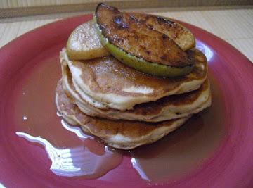 Apple Pie Pancakes W/ Caramel Bourbon Glaze Recipe