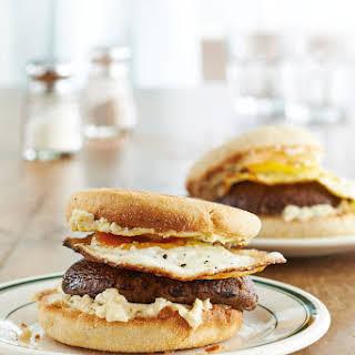 Cheesy Portobello and Egg Burgers.