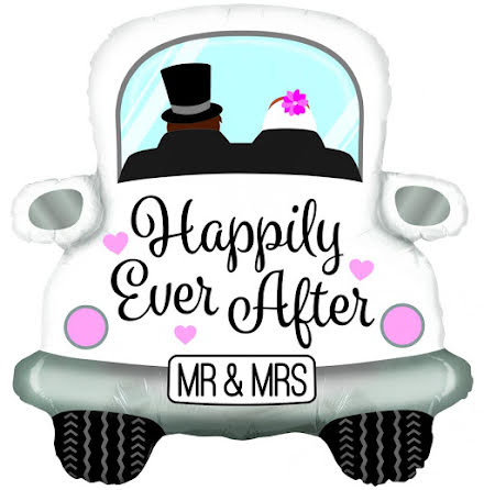 Foileballong Bil - Happily ever after