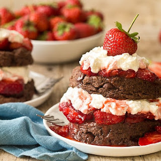 Chocolate Strawberry Shortcake (Dessert For Two).