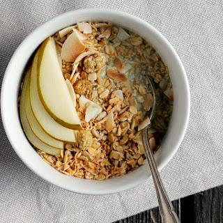 Coconut Cardamom Granola + Creamy Vanilla Pumpkin Seed Milk Recipe