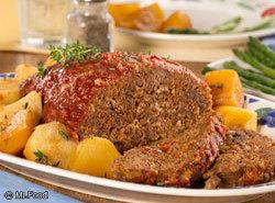 Slow Cooked Meat Loaf And Potatoes Recipe