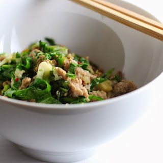 Minced Pork with Garlic and Mustard Greens