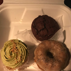 Matcha Hazlenut Cupcake, Lemon Poppyseed Bundt Cake, Double Chocolate Brownie
