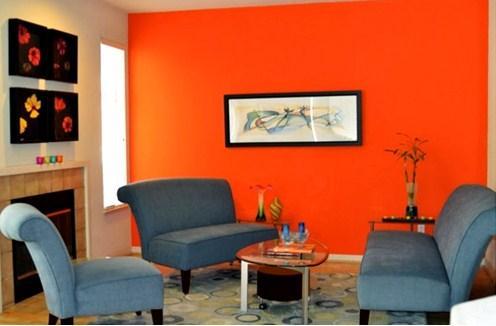 warna cerah untuk ruang tamu kecil