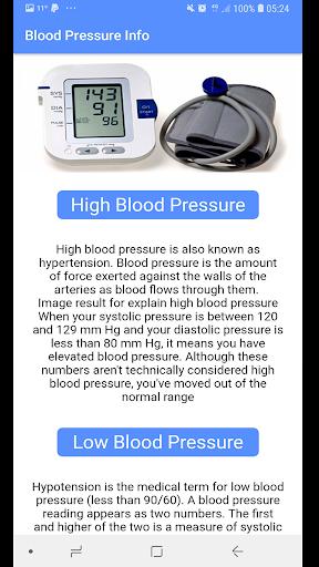 Blood Pressure - BP INFO 2.8 Screenshots 2
