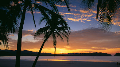 Photo: Solitary figure on Playa Sumara at sunrise, Nicoya Peninsula, Guanacaste, Costa Rica