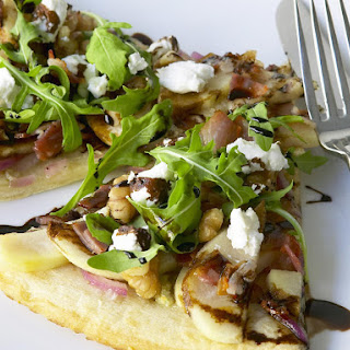 Pear-Walnut Pizza with Balsamic Reduction.