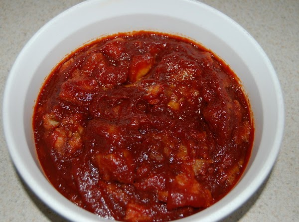 Pour tomato mixture over top of previous mixture and toss to make sure it...