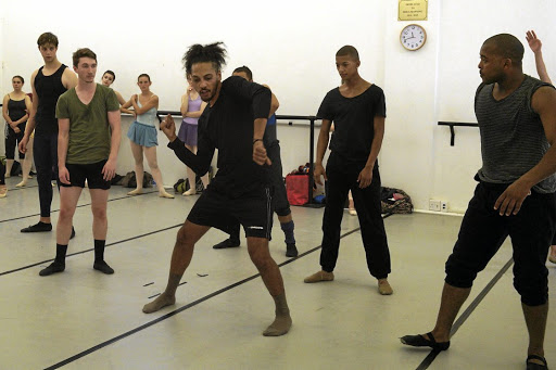 Body of work: Grant van Ster (centre) and dancers from Cape Town City Ballet rehearse The Johaar Mosaval Journey, staged at Artscape, where Mosaval made history as the first black dancer to perform there. Picture: SUPPLIED