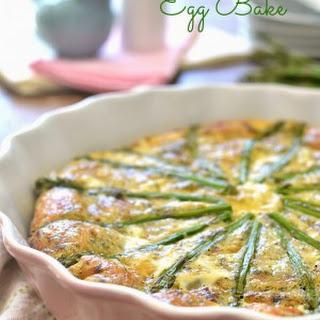 Bacon, Swiss & Asparagus Egg Bake