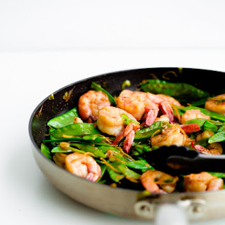 15-Minute Shrimp, Snow Pea, and Ginger Stir Fry.