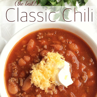 (the best!) Classic Chili.