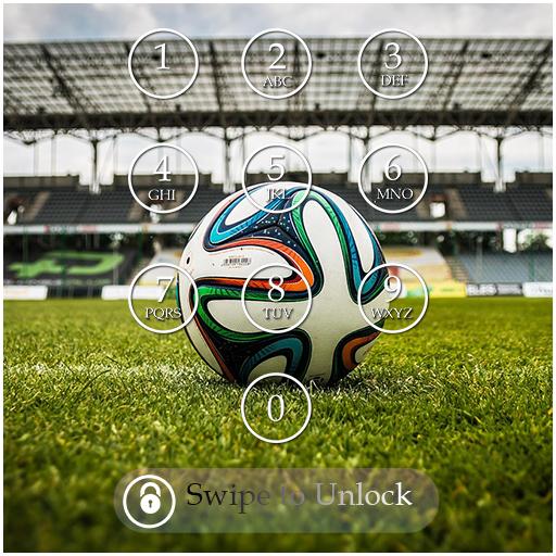 Soccer Keypad Lock Screen
