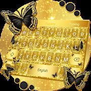 Golden Butterfly Luxury Keyboard Theme
