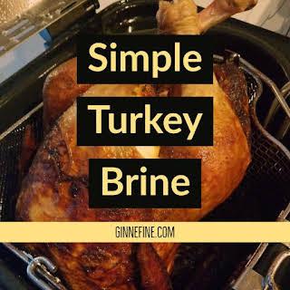 Simple Turkey Brine.