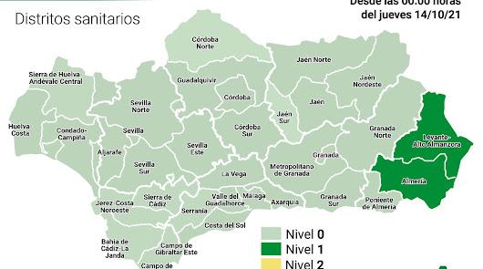 Toda Andalucía sin restricciones, salvo los distritos de Almería y el Levante