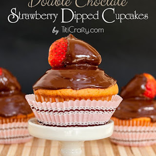 Double Chocolate Strawberry Dipped Cupcakes