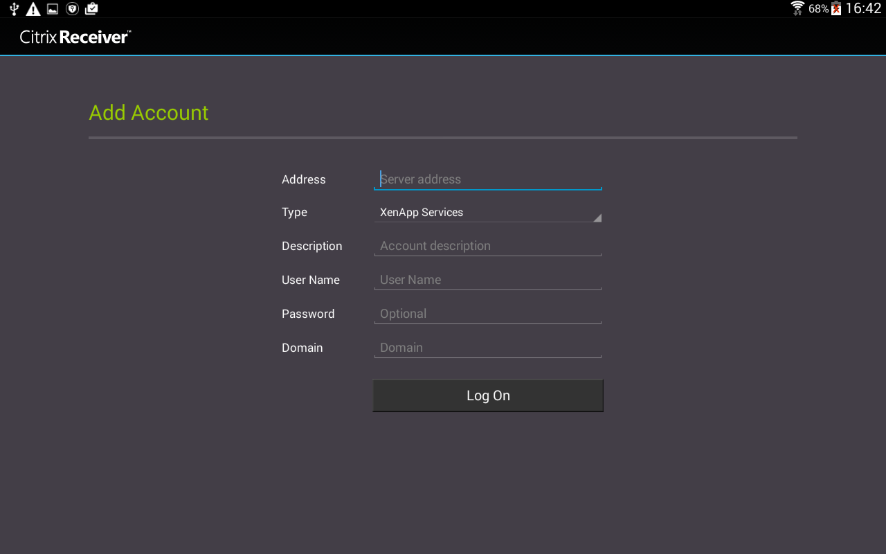 Citrix Receiver- screenshot