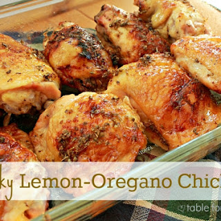 Sticky Lemon- Oregano Chicken