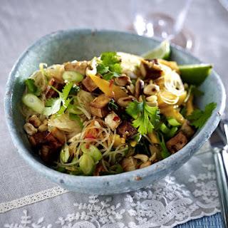 Tofu, Mango and Rice Noodle Salad