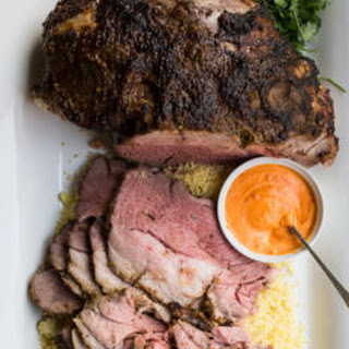 Slow Cooked Moroccan Leg of Lamb.