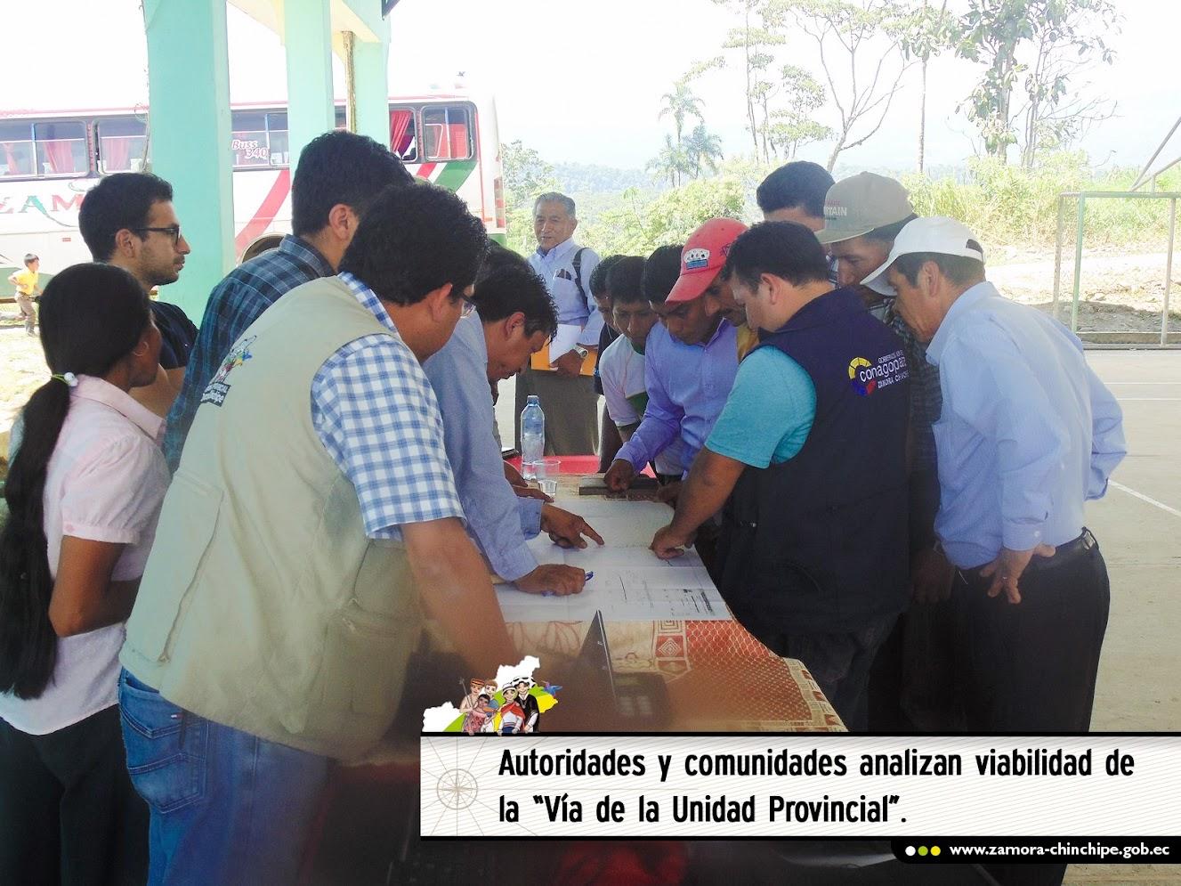 """AUTORIDADES Y COMUNIDADES  ANALIZAN VIABILIDAD DE LA """"VÍA DE LA UNIDAD PROVINCIAL"""""""