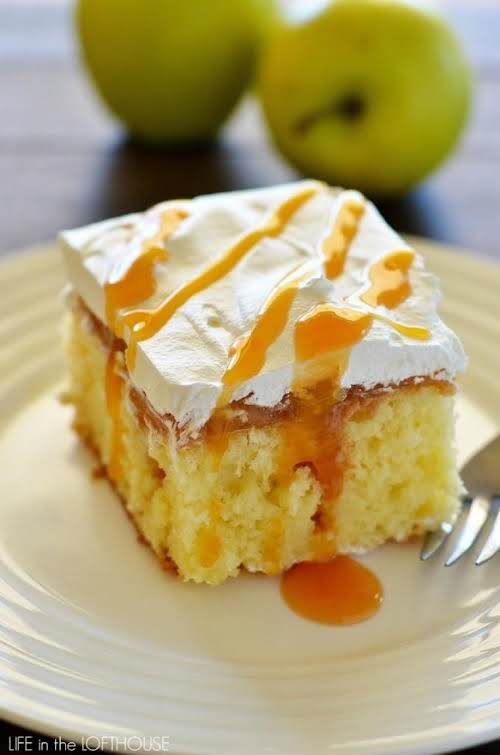 "Caramel Apple Poke Cake ""I made this today and followed the recipe..."