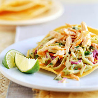 Chicken and Slaw Tostadas