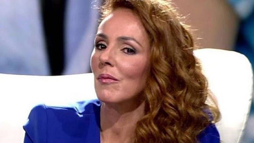 Rocío Carrasco, durante su entrevista.