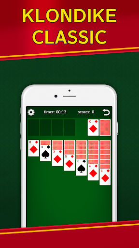 Classic Solitaire Klondike - No Ads! Totally Free! Screenshots 1