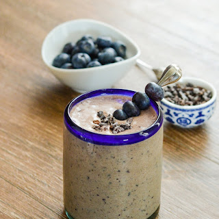 Double Chocolate Blueberry Protein Smoothie.