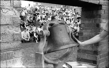 Photo: Friday, May 1, noon, the ringing of the Victory Bell calls a rally to protest President Nixon's expansion of the Vietnam War into Cambodia.