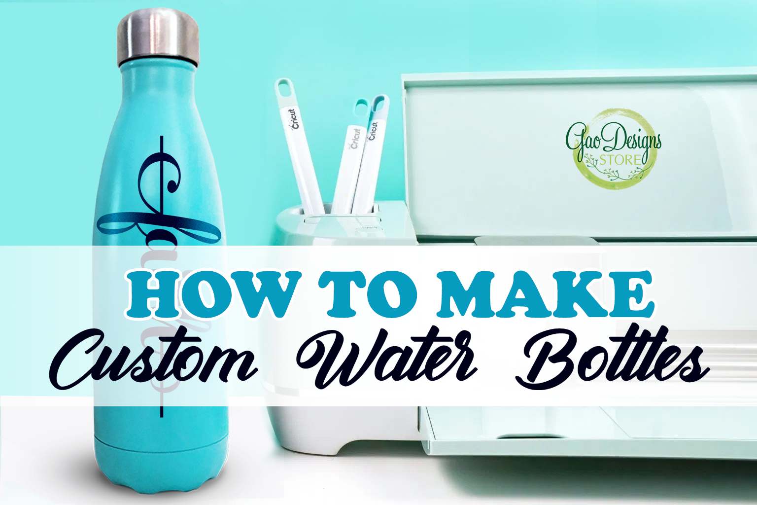How to make custom water bottles with cricut