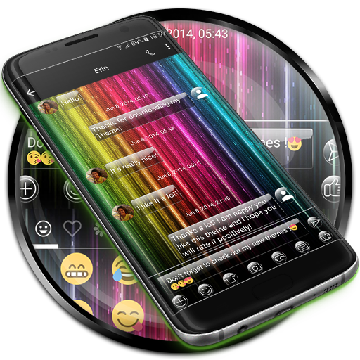 SMS Messages Glass Rainbow