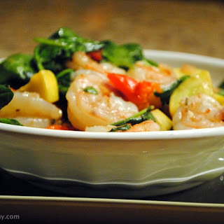 Greek Shrimp and Squash Saute.