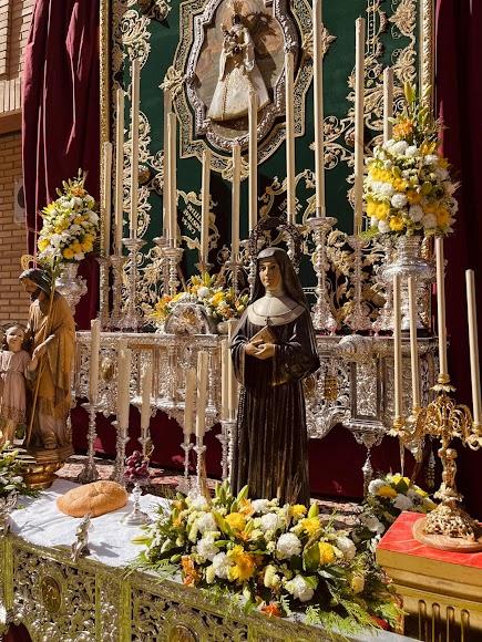 La Virgen del Mar, protagonista del altar de la Macarena.