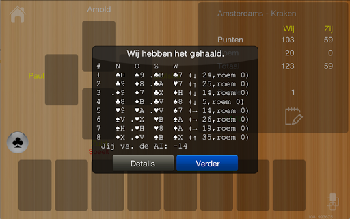 Klaverjas HD Free 9.50 screenshots 11