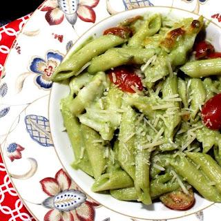 Creamy Pesto Baked Pasta – Baked Pasta with Pesto and Cherry Tomatoes Recipe
